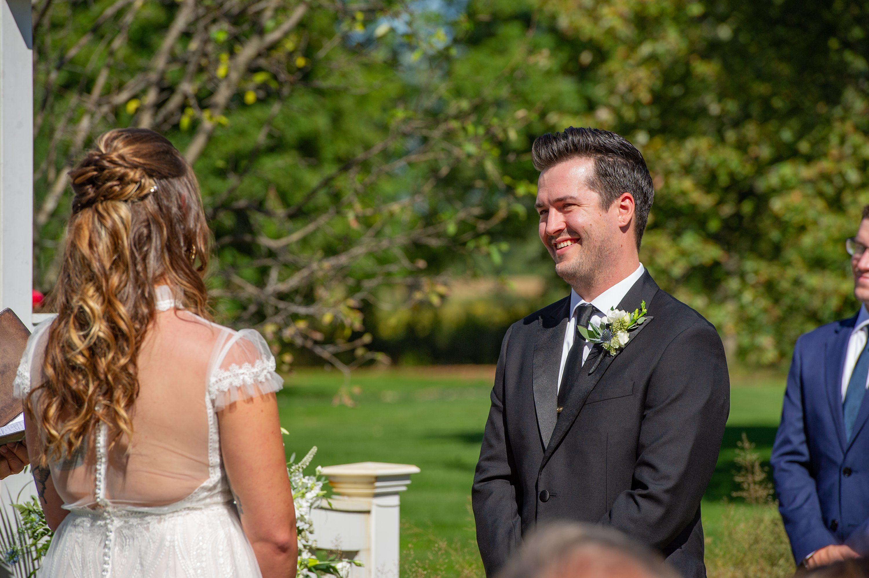 intimate daytime wedding,