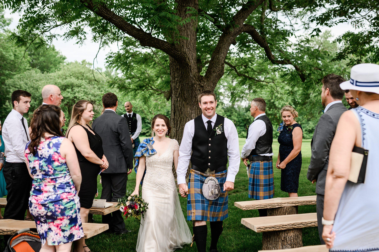Mariage écossais, kilt