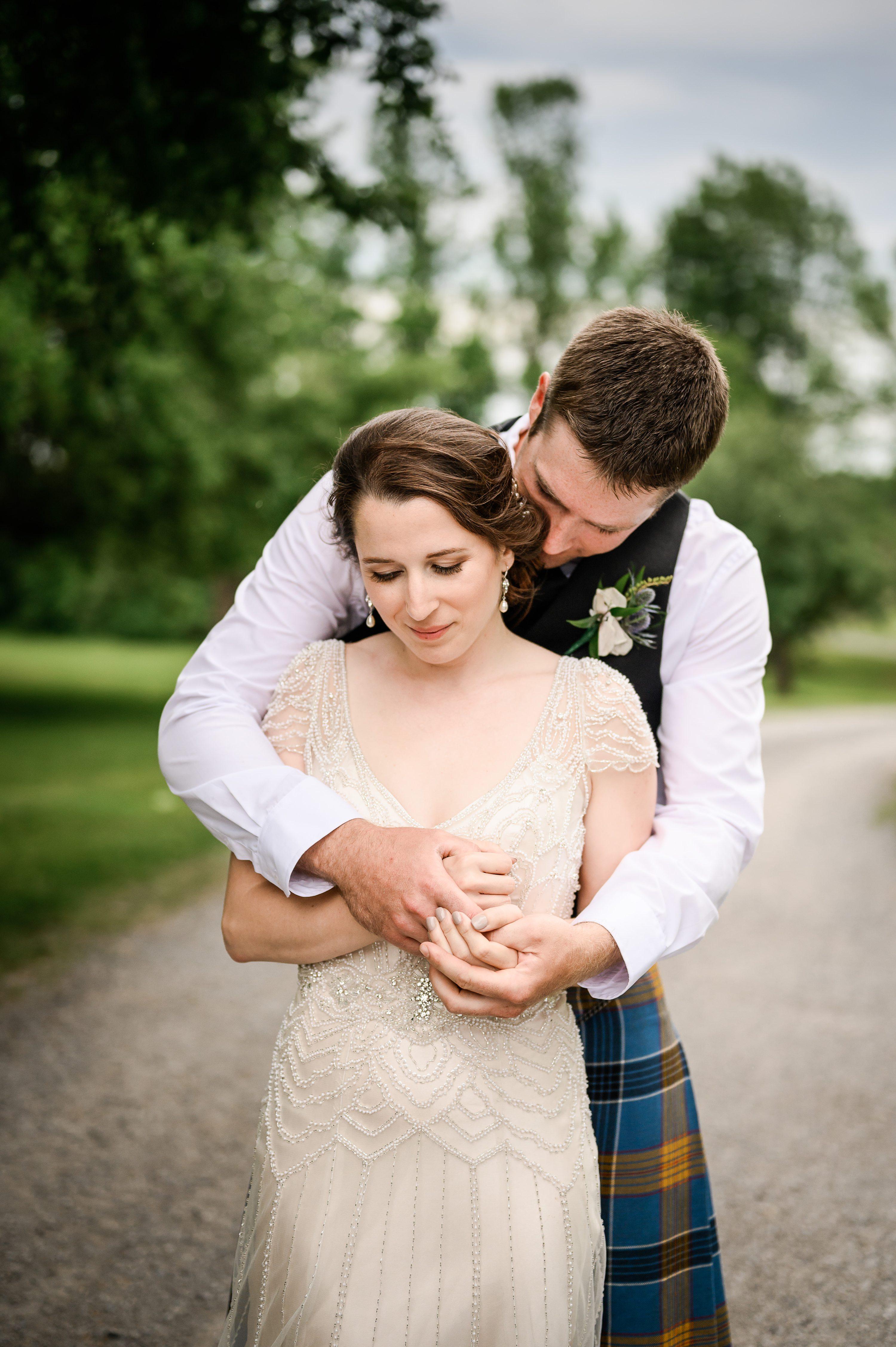 kilt, cornwall wedding