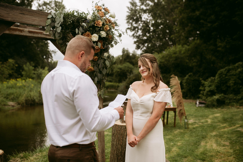 muskoka elopement,backyard wedding