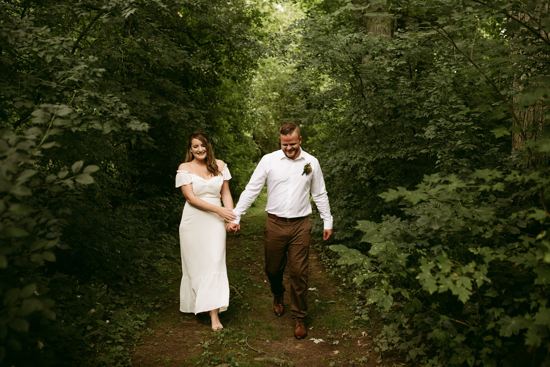 backyard elopement,muskoka wedding
