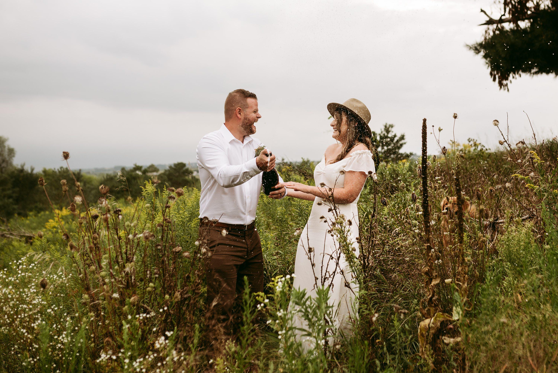 muskoka elopement,backyard elopement