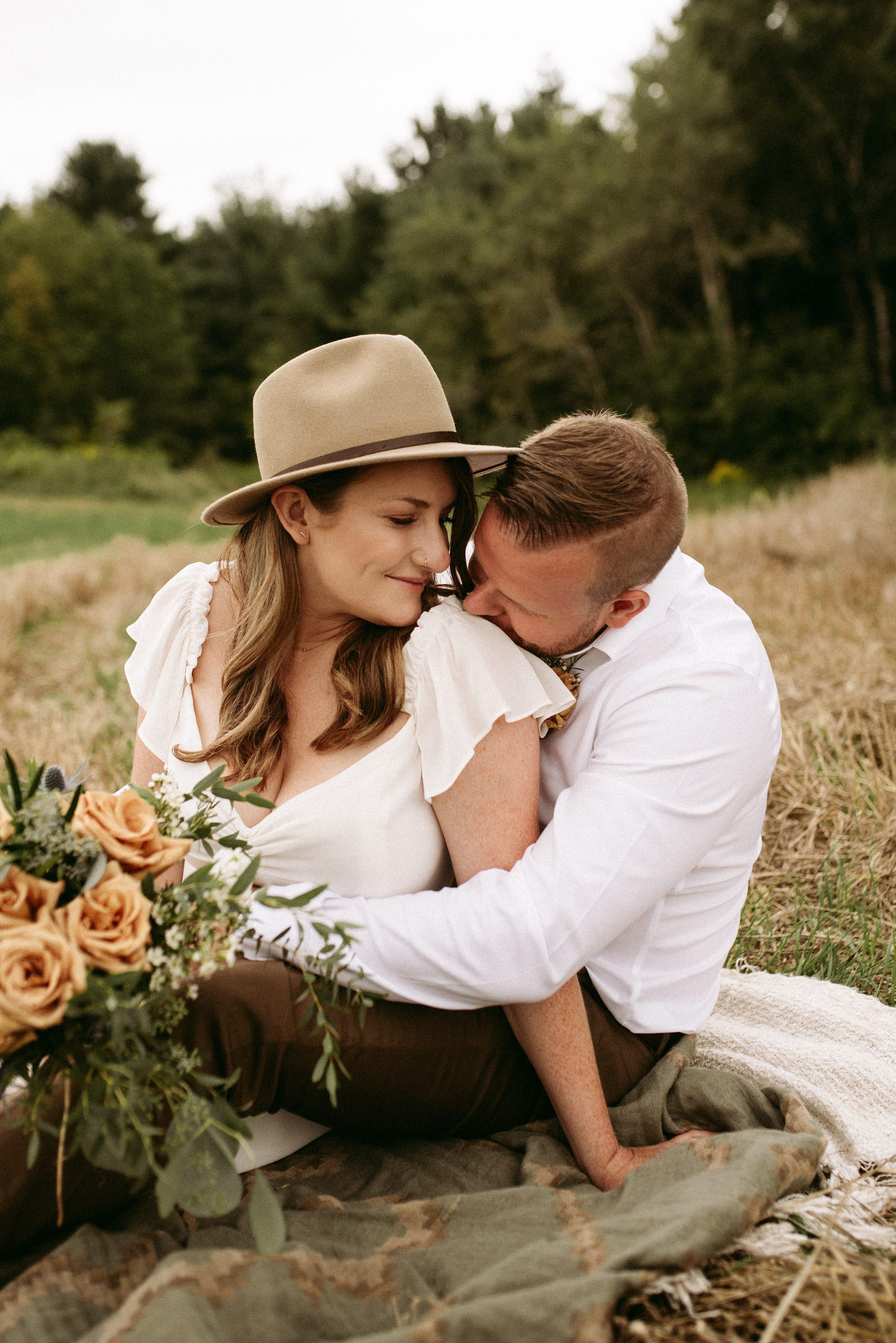 muskoka elopement,wedding with kids