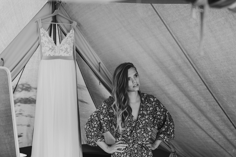trouwen, trouwfotograaf,campingbruiloft