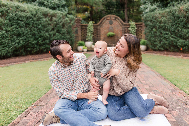 6 month portraits,NC Family Photographer