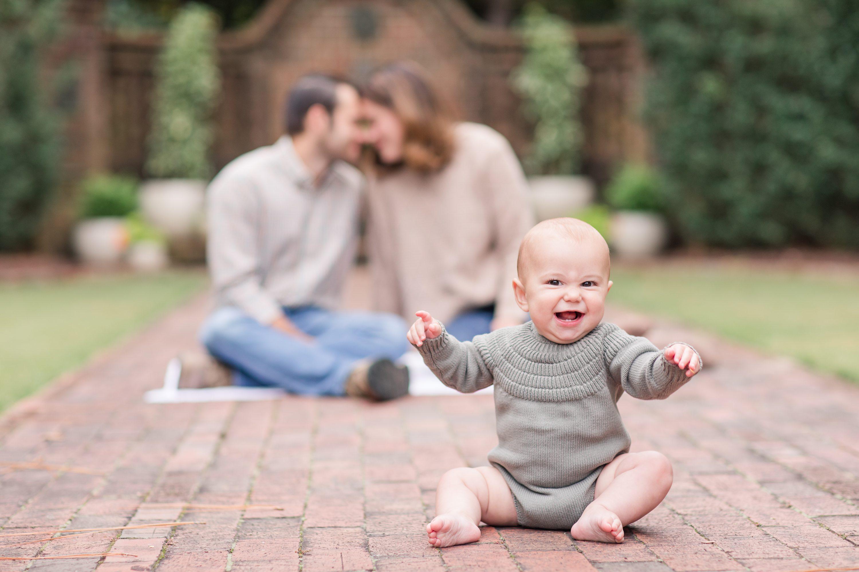6 month portraits,Pinehurst family photographer