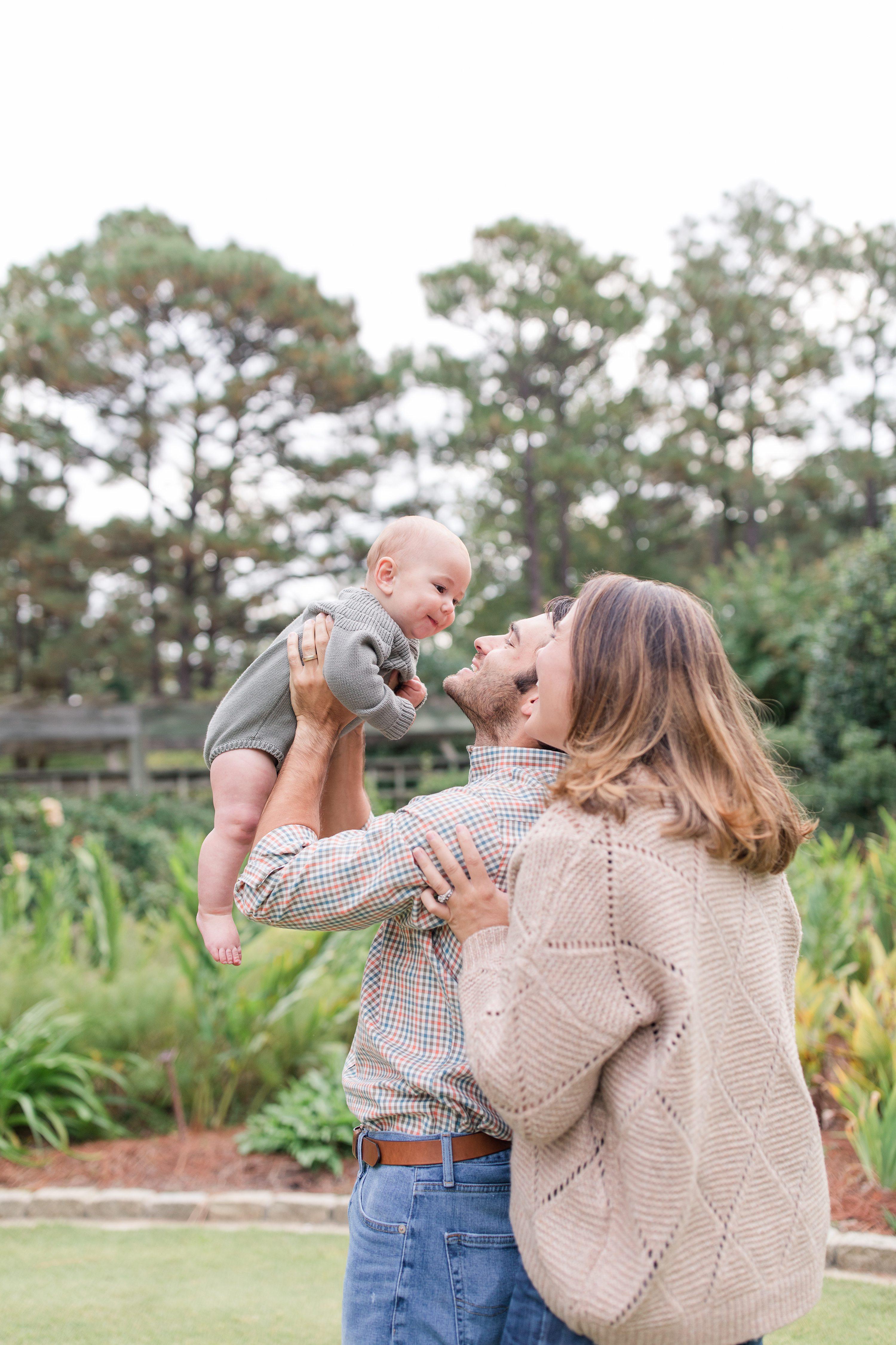 Pinehurst family photographer,6 month portraits