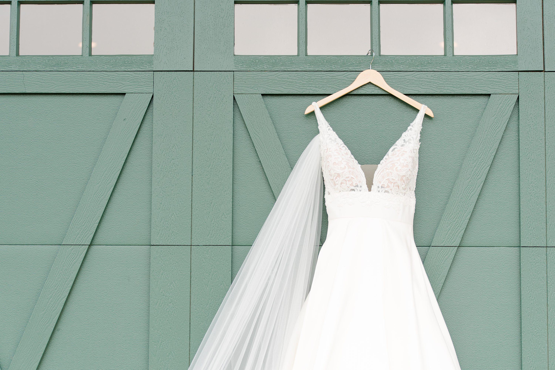 Virginia Wedding Photographer,Wedding Dress,Dress,Veil,barn doors,Barn at Edgewood
