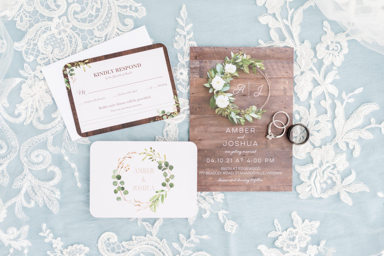 Edgewood,Spring Wedding,wedding invitation,invitation suite