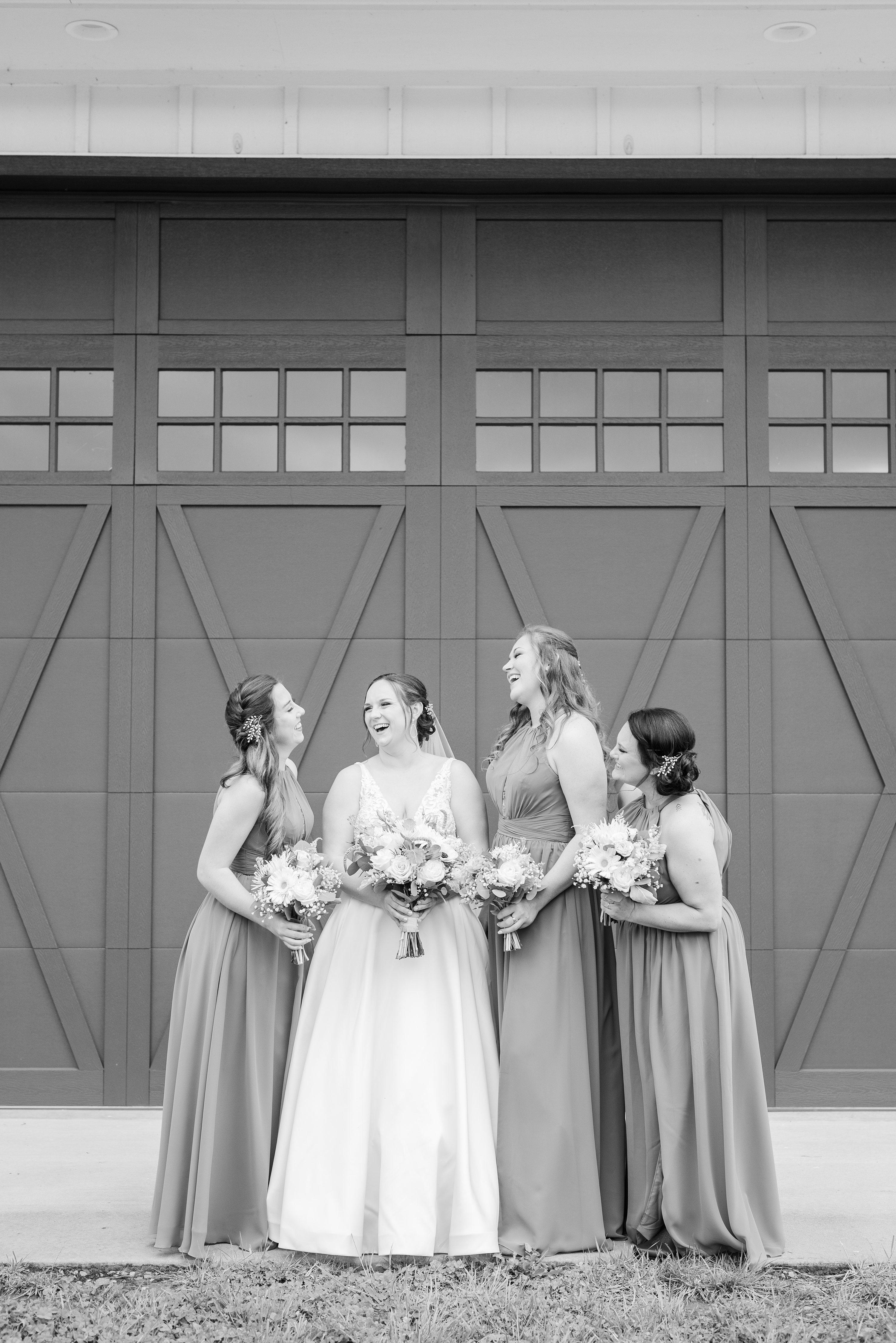 Charlottesville,Barn at Edgewood,bride and bridesmaids,bridesmaids,bride,black and white