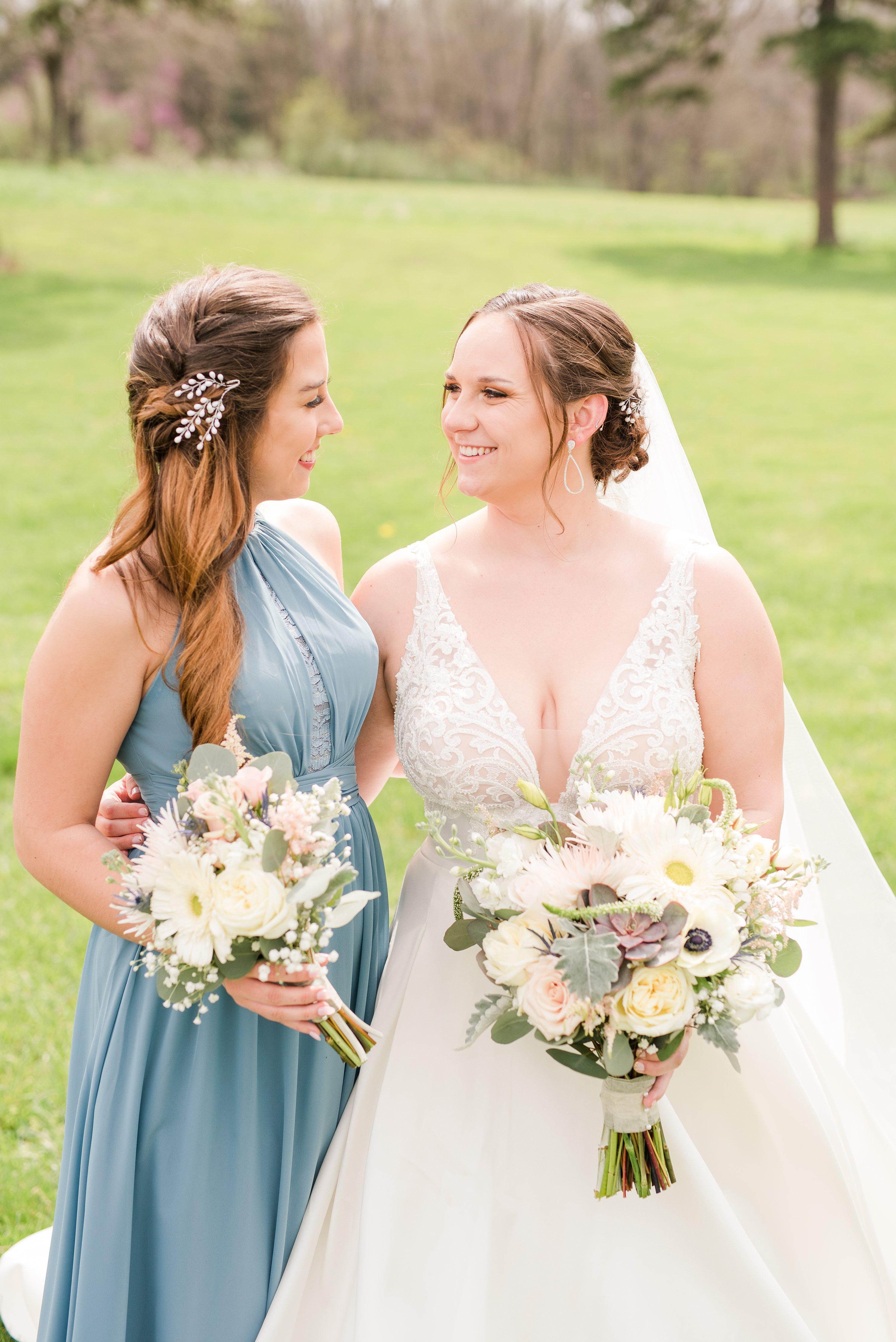 Spring Wedding,Virginia Wedding Photographer,Barn at Edgewood,bride and bridesmaids,bridesmaids,bride