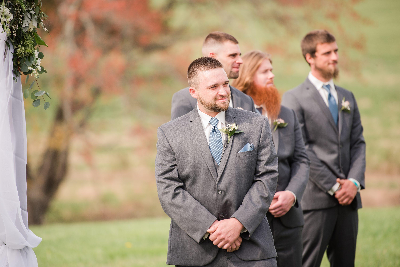 Spring,Barn Wedding,groom,ceremony