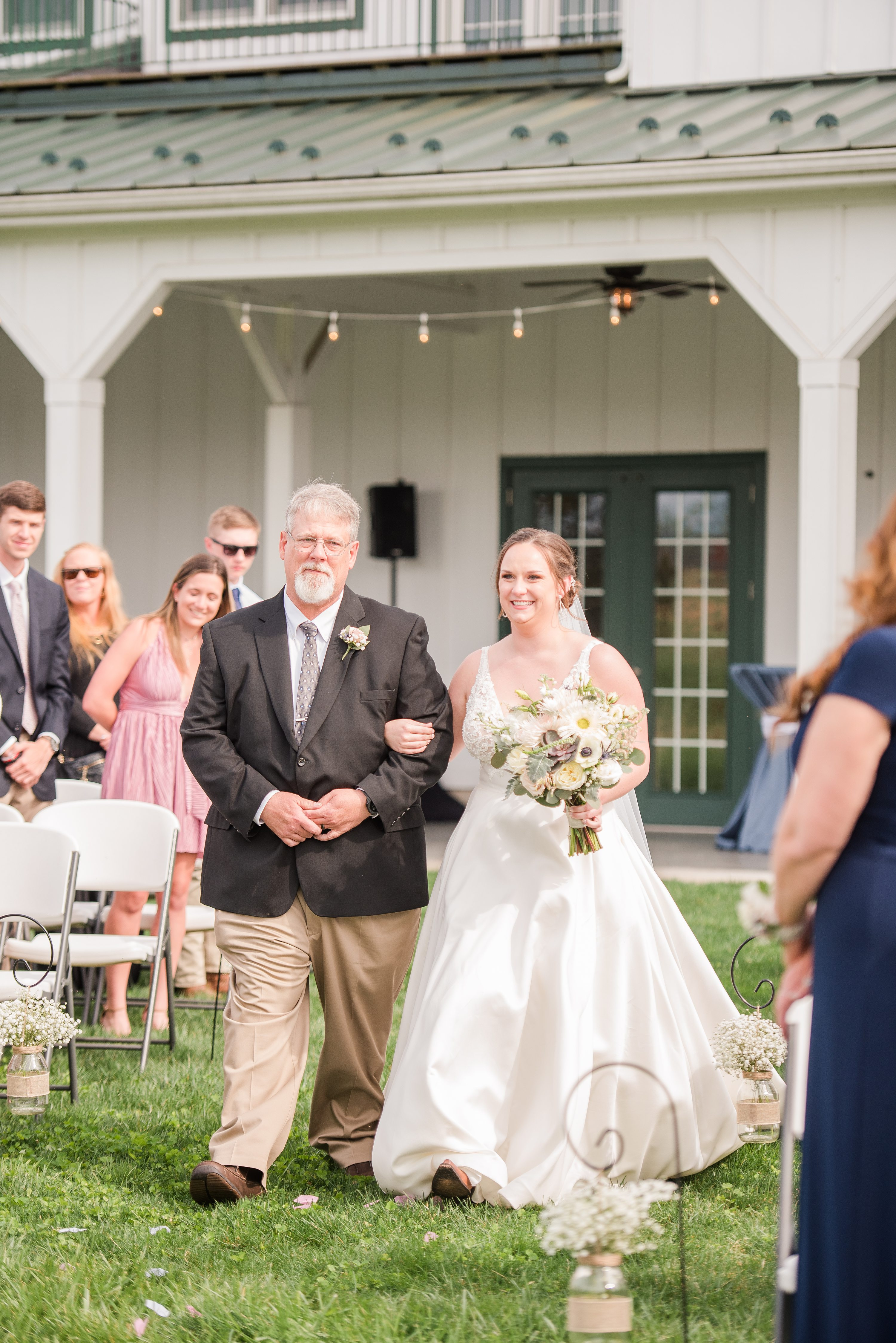 Wedding,Spring,father of bride,walking down aisle