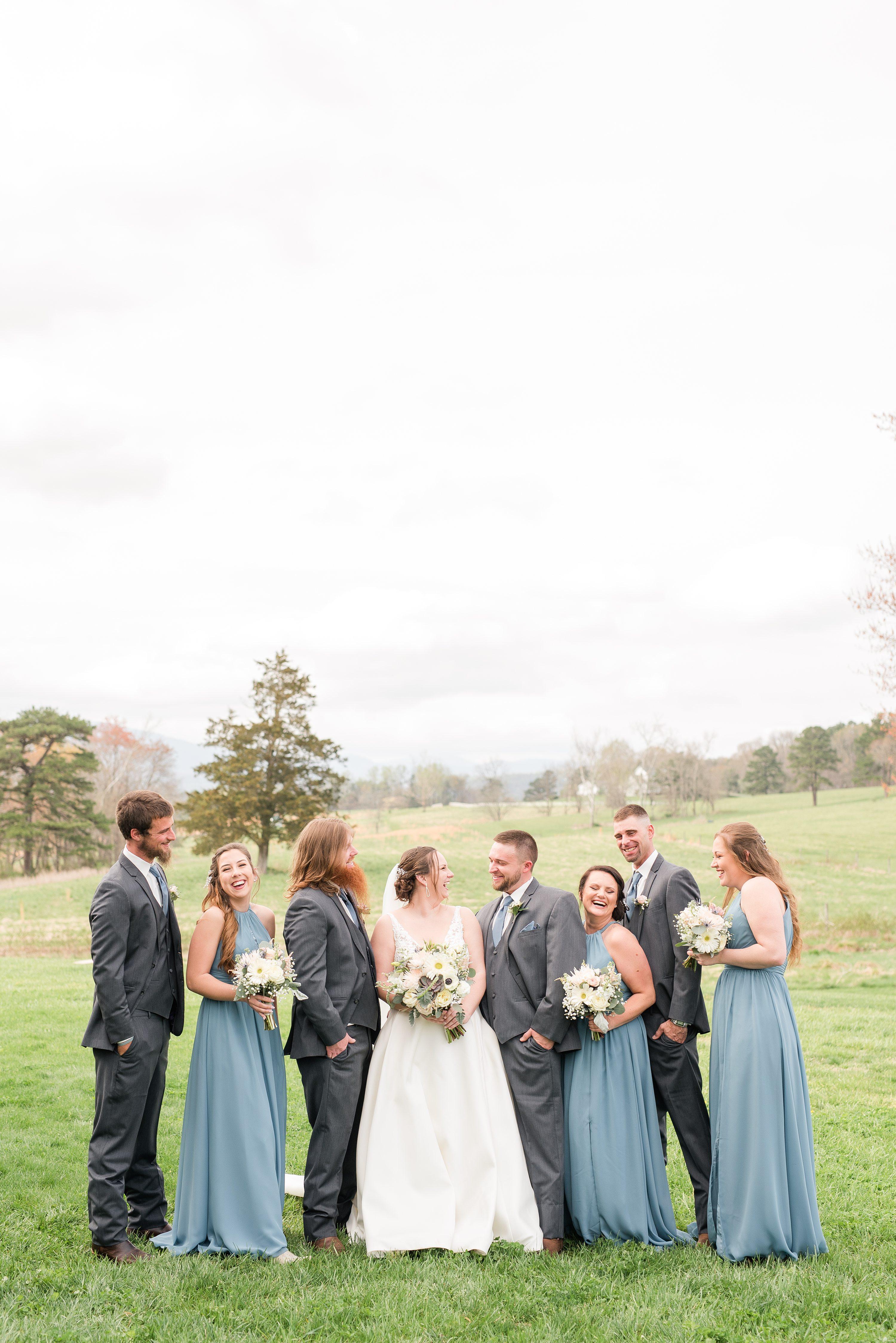 Edgewood,Charlottesville,bridal party
