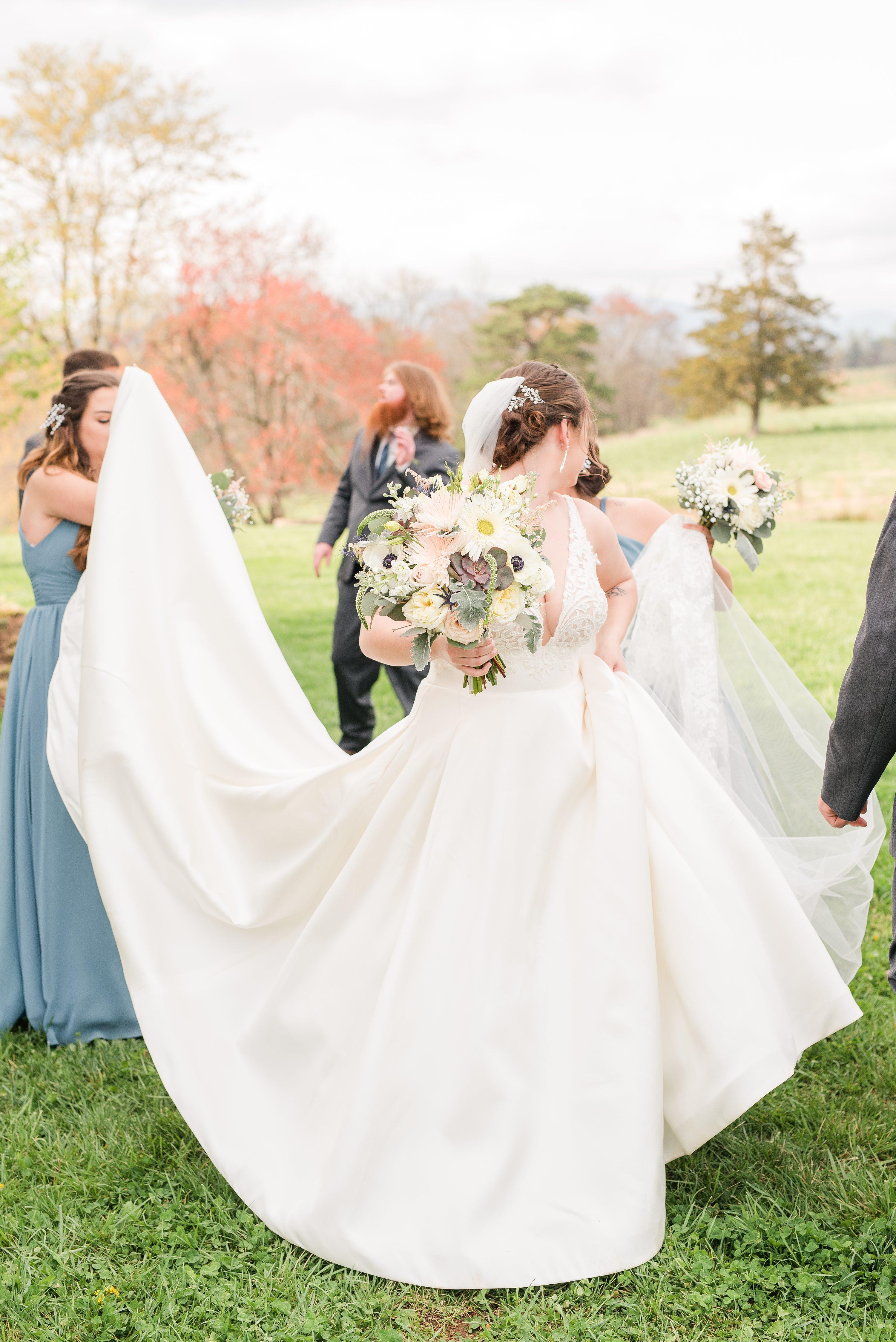 Outdoor Spring Wedding,Wedding,bride and bridesmaids