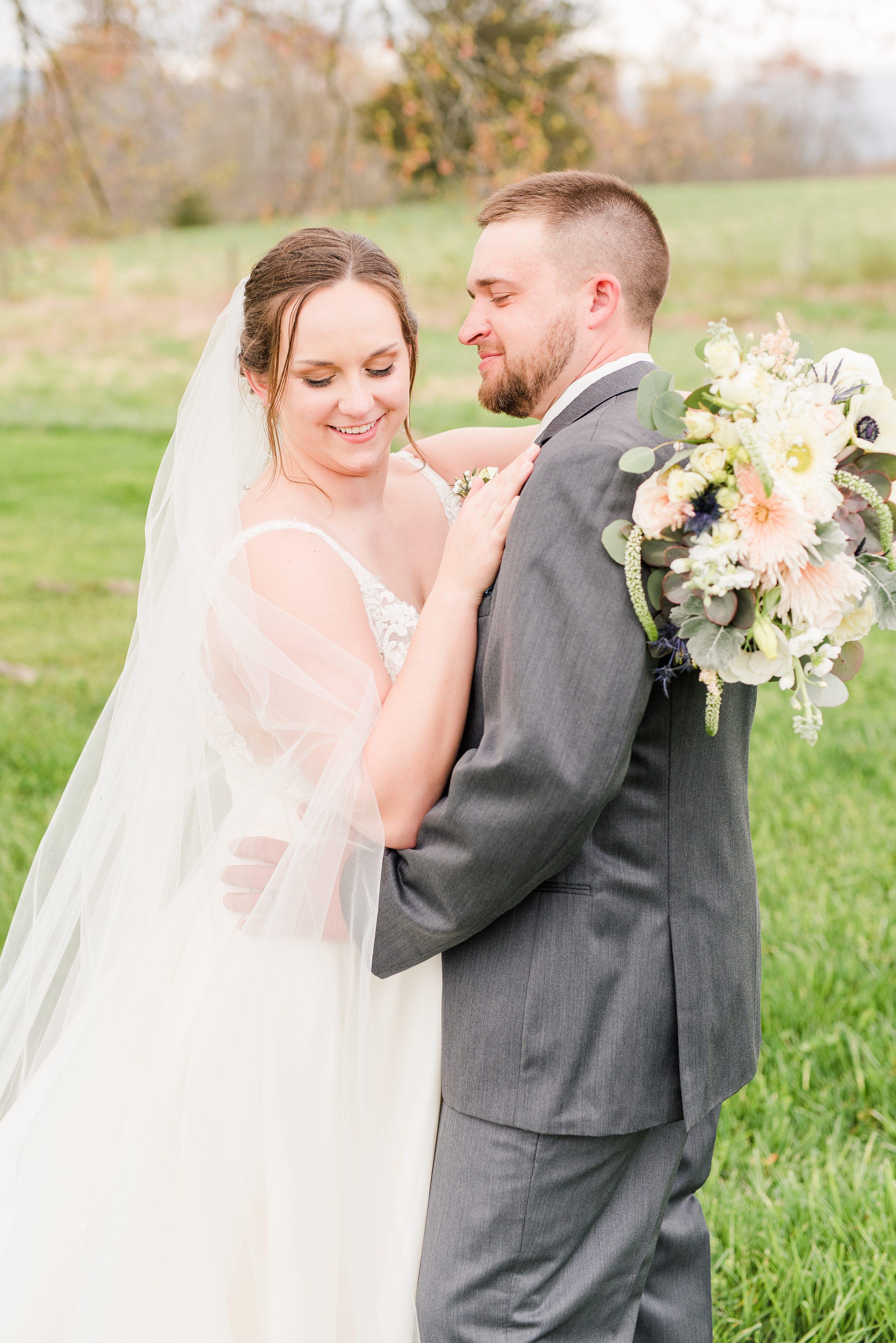 Spring Wedding,Blue Ridge,bride and groom,mountain wedding,edgewood barn,bride,groom