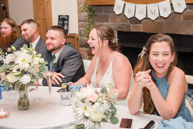 Bright,Blue Ridge Mountains Wedding,bridal party,reception,bride and groom,edgewood barn