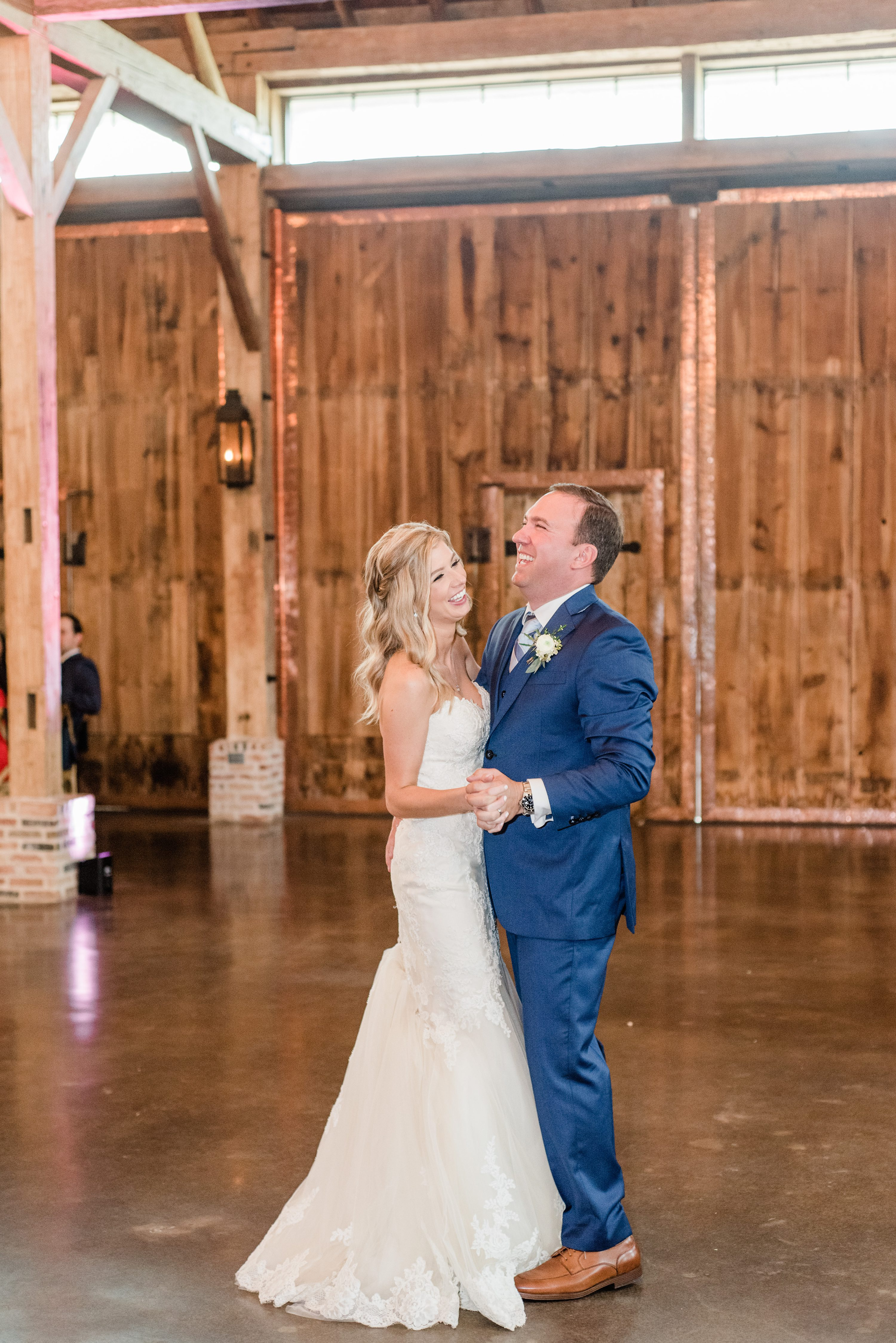 TX, while the groomsmen wore custom tailored blue suits. Their romantic ceremony was so full of emotion