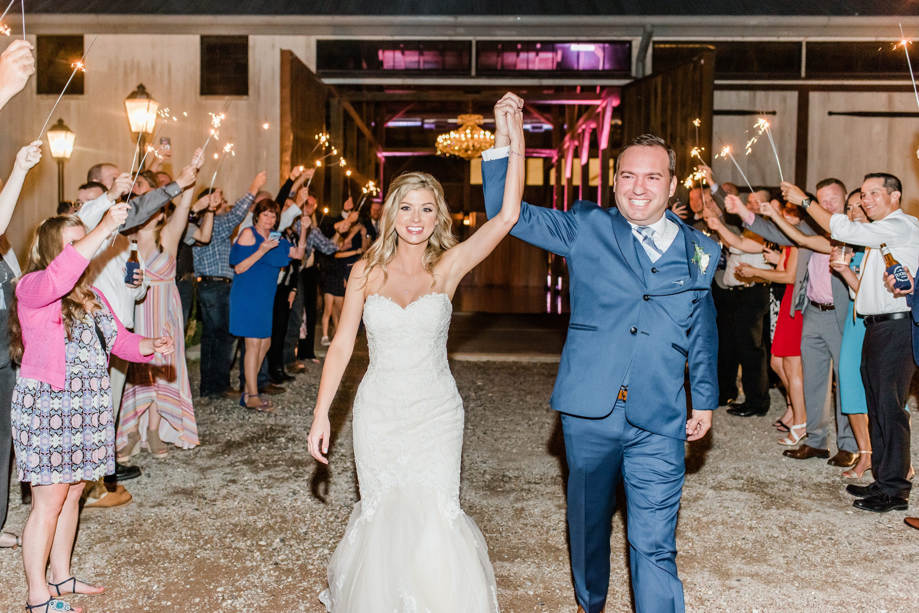 Laura and Travis got married at the gorgeous Beckendorff Farms, especially when Travis cried seeing his bride for the first time. Their reception decor was absolutely stunning