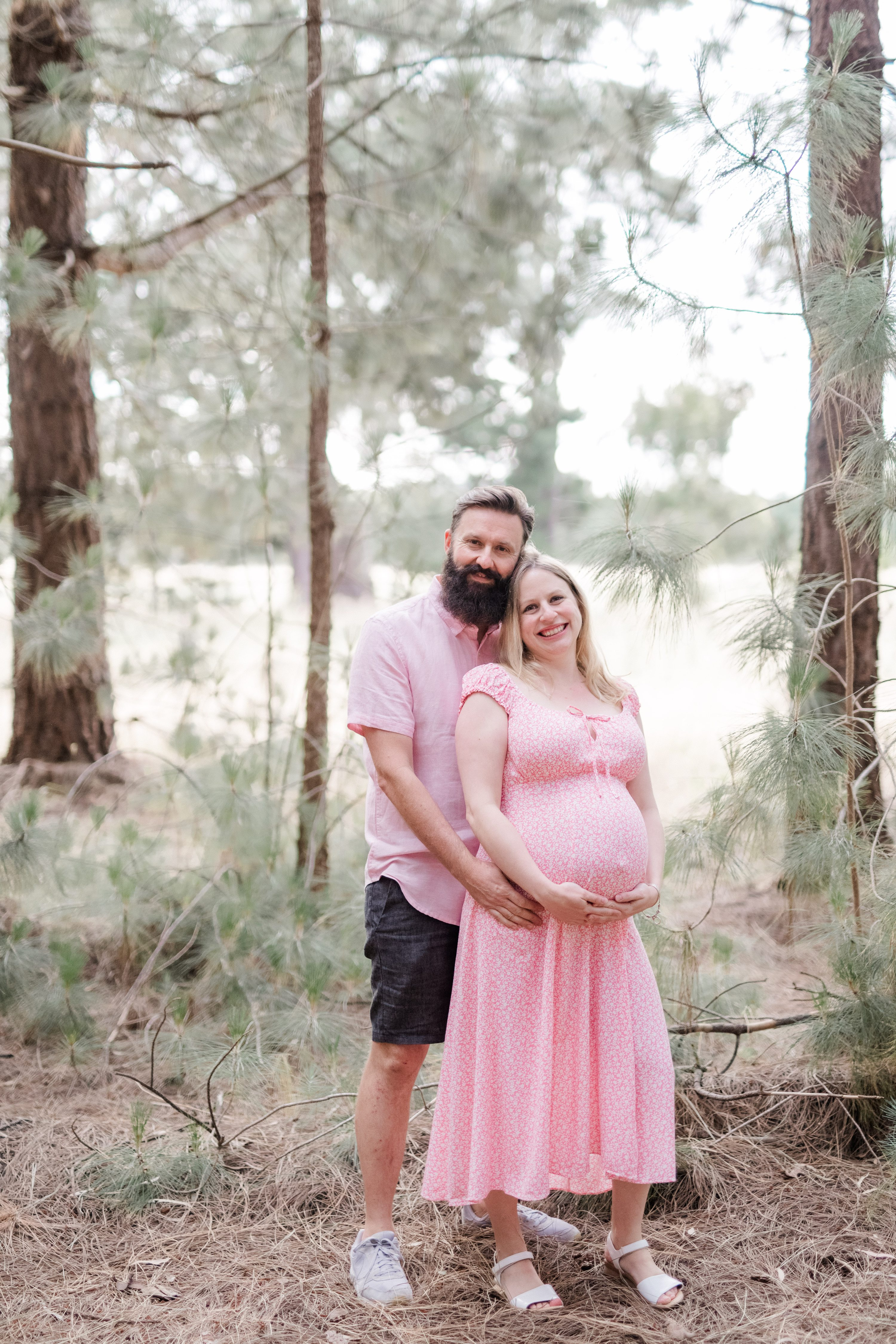 adelaide hills maternity session forest maternity session,