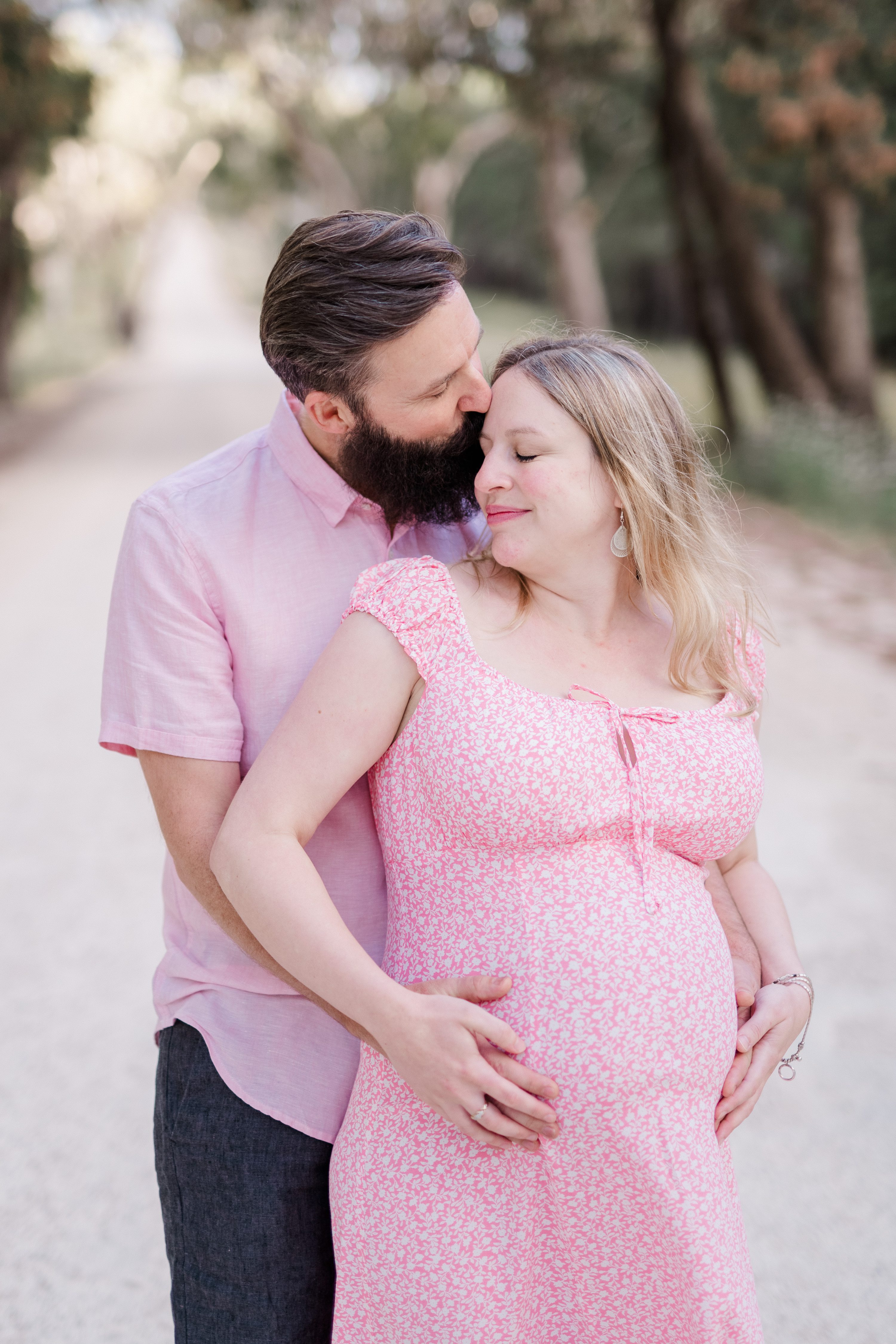 adelaide hills maternity session forest maternity session