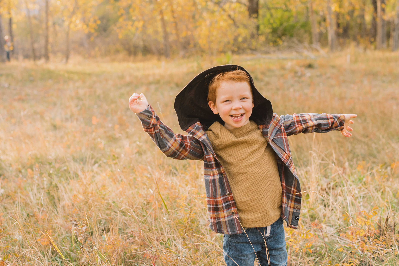 fall family photos, family of four
