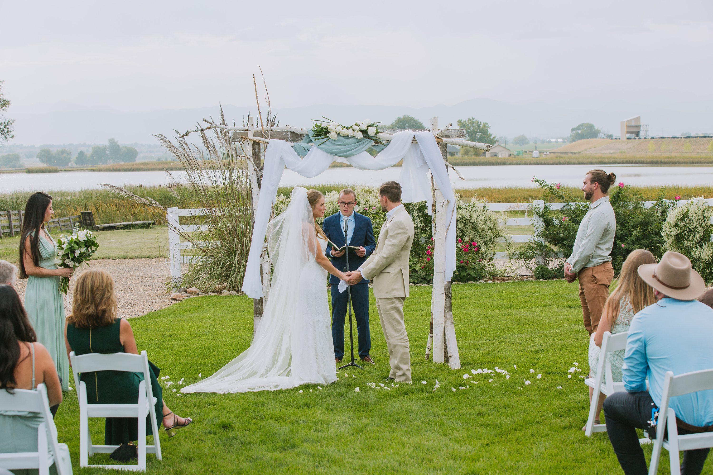 outdoor wedding ceremony,aspen tree alter