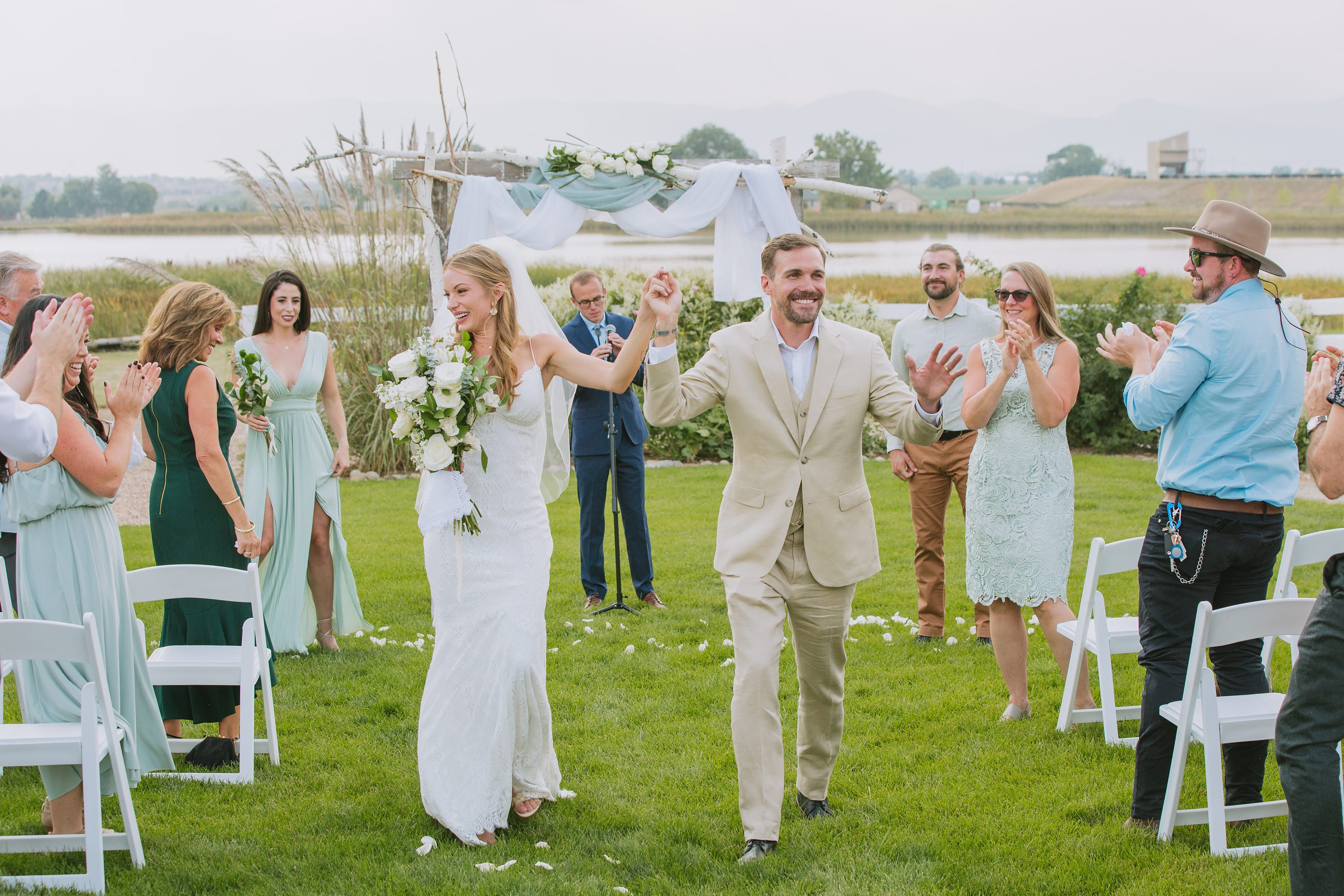 walking up the aisle,outdoor wedding ceremony