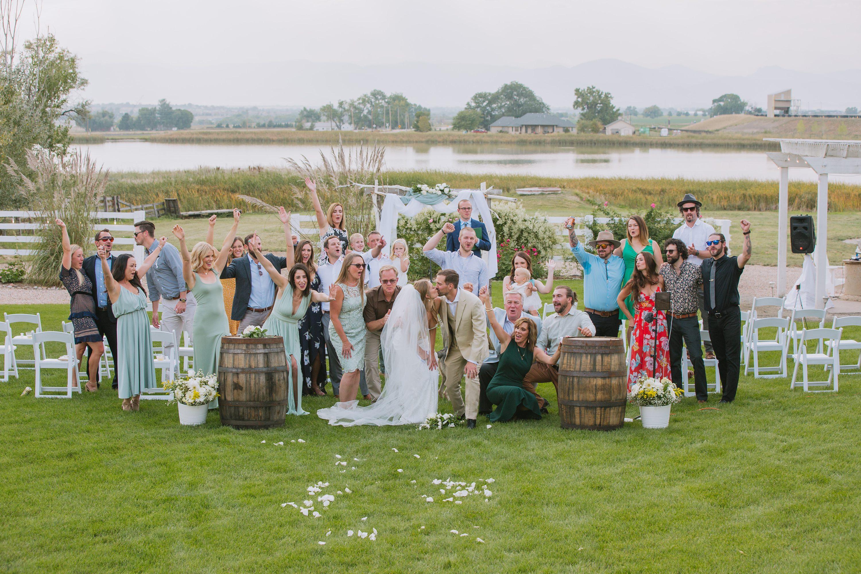 full wedding group photo