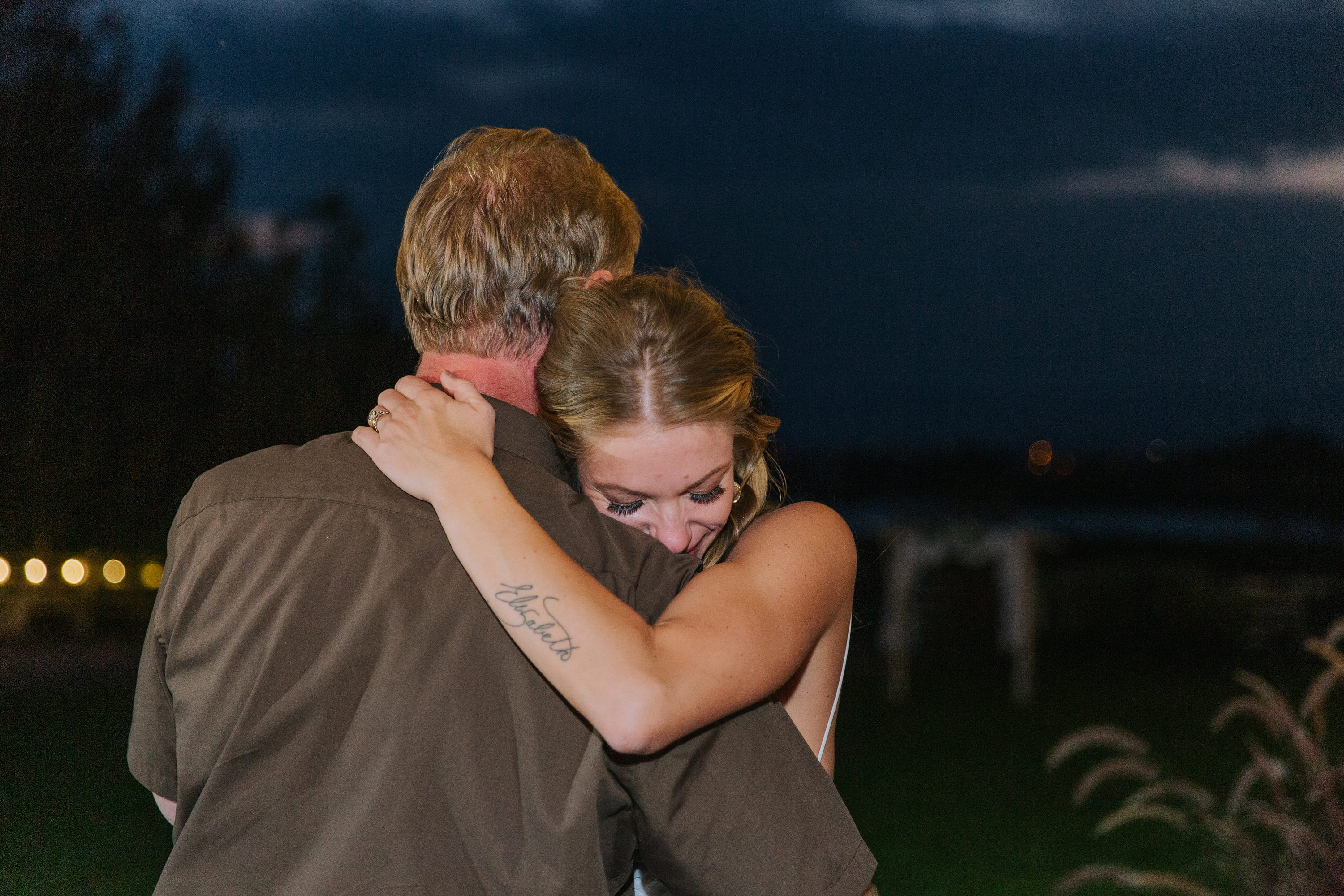 father of the bride,father daughter dance,bride with tattoos