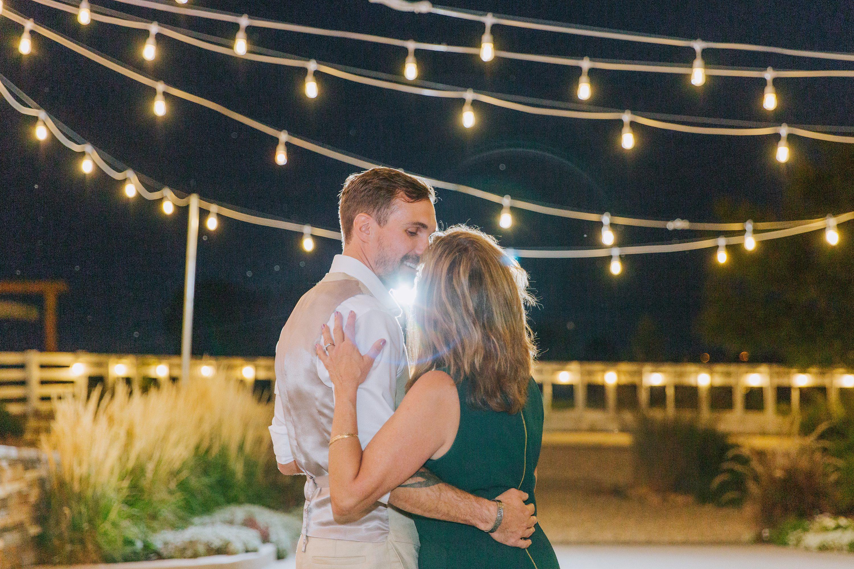 mother son dance,mother of the groom,market lights,dancing under lights