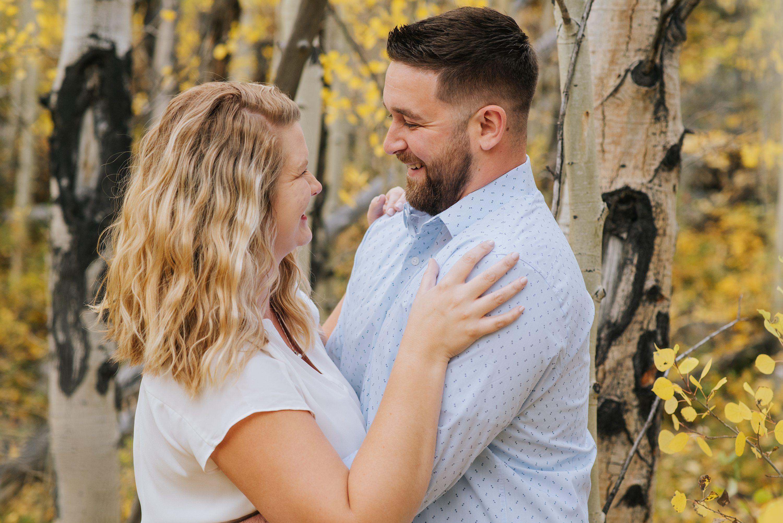 changing aspens, Colorado engagement photos