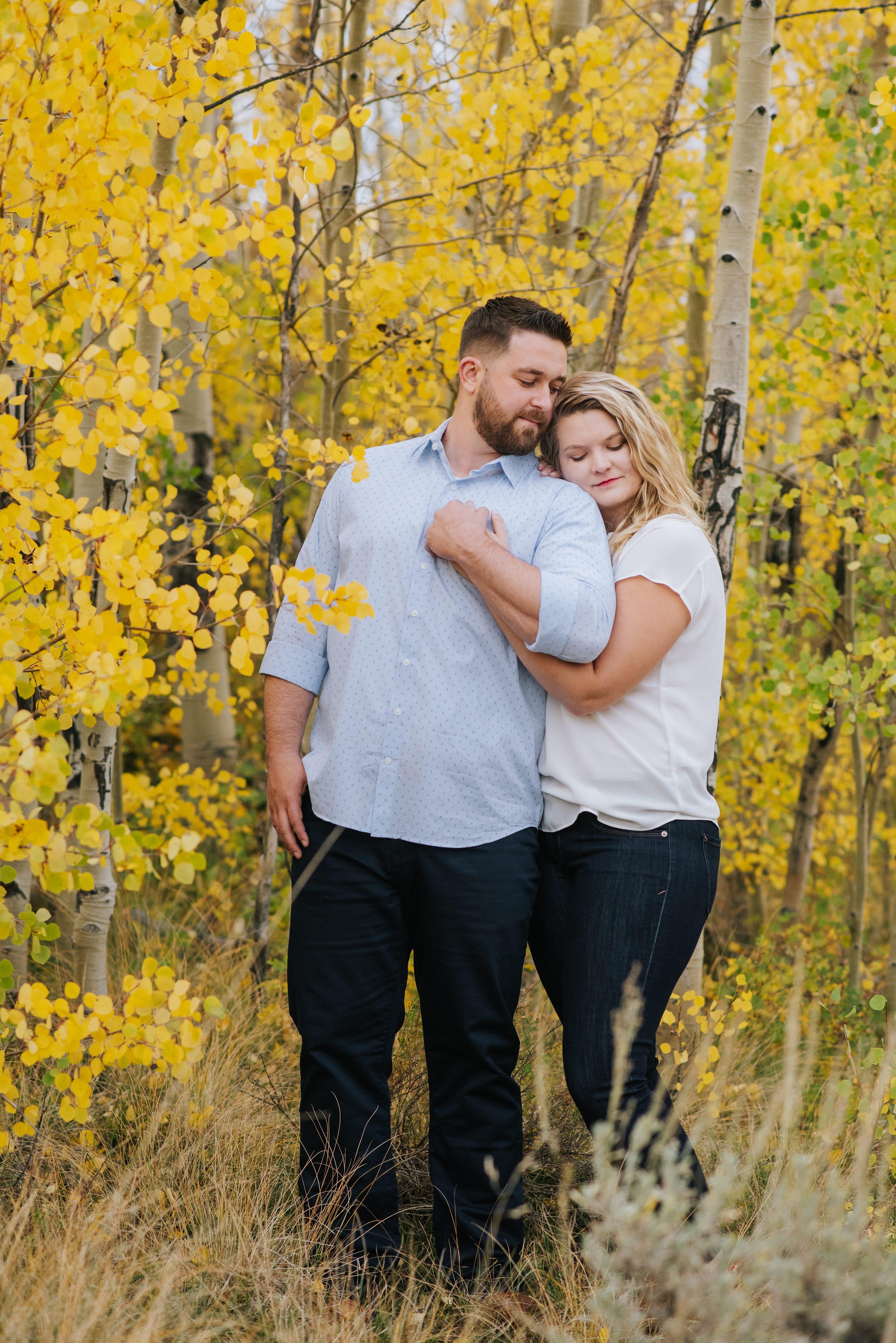 colorado fall photos, mountain engagement photos
