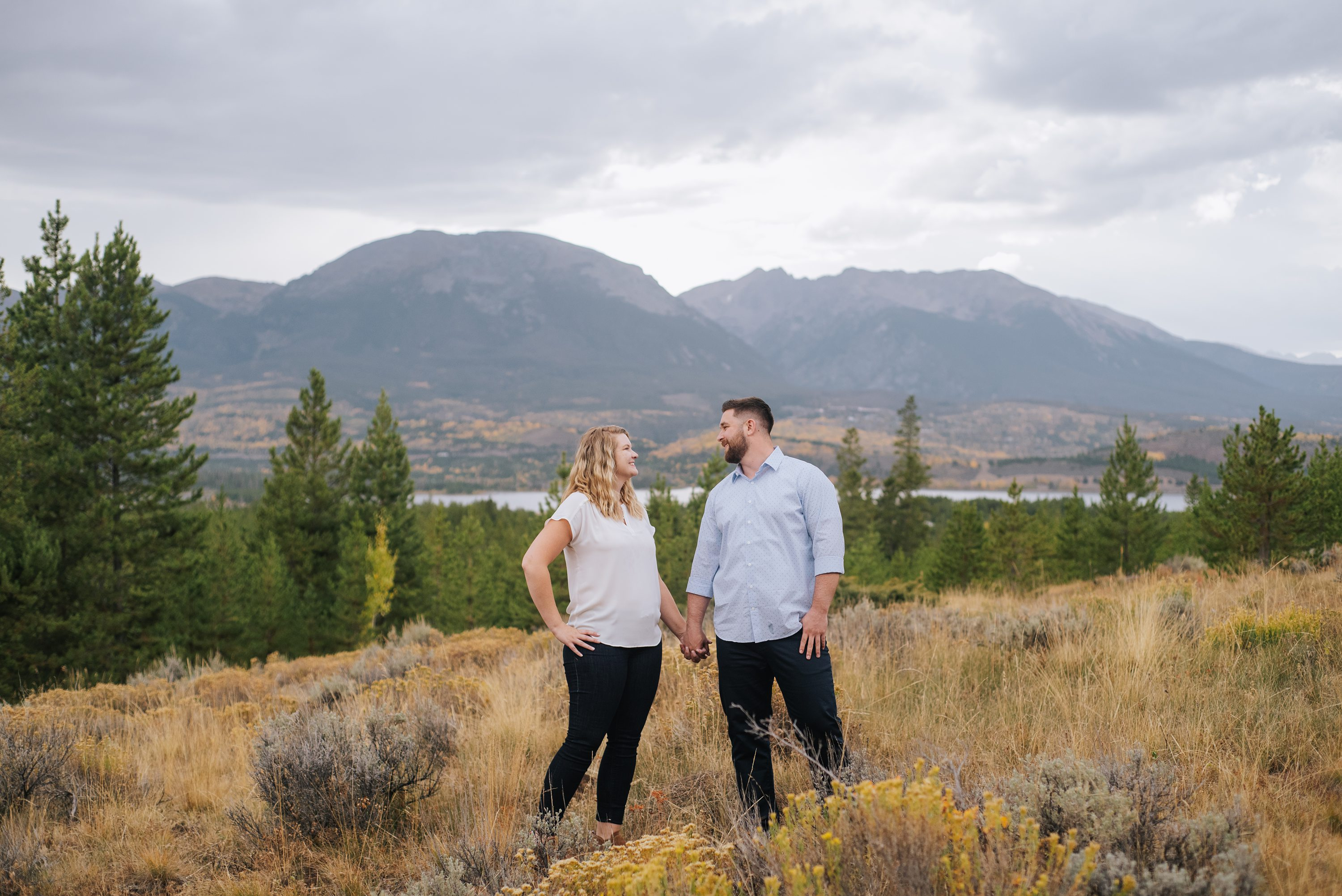 Fall colors, colorado engagement photography