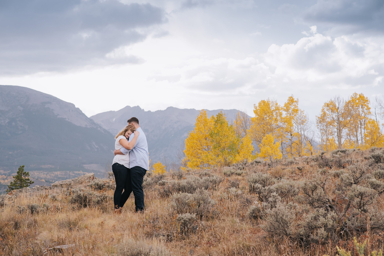 mountain engagement photos, Fall photos