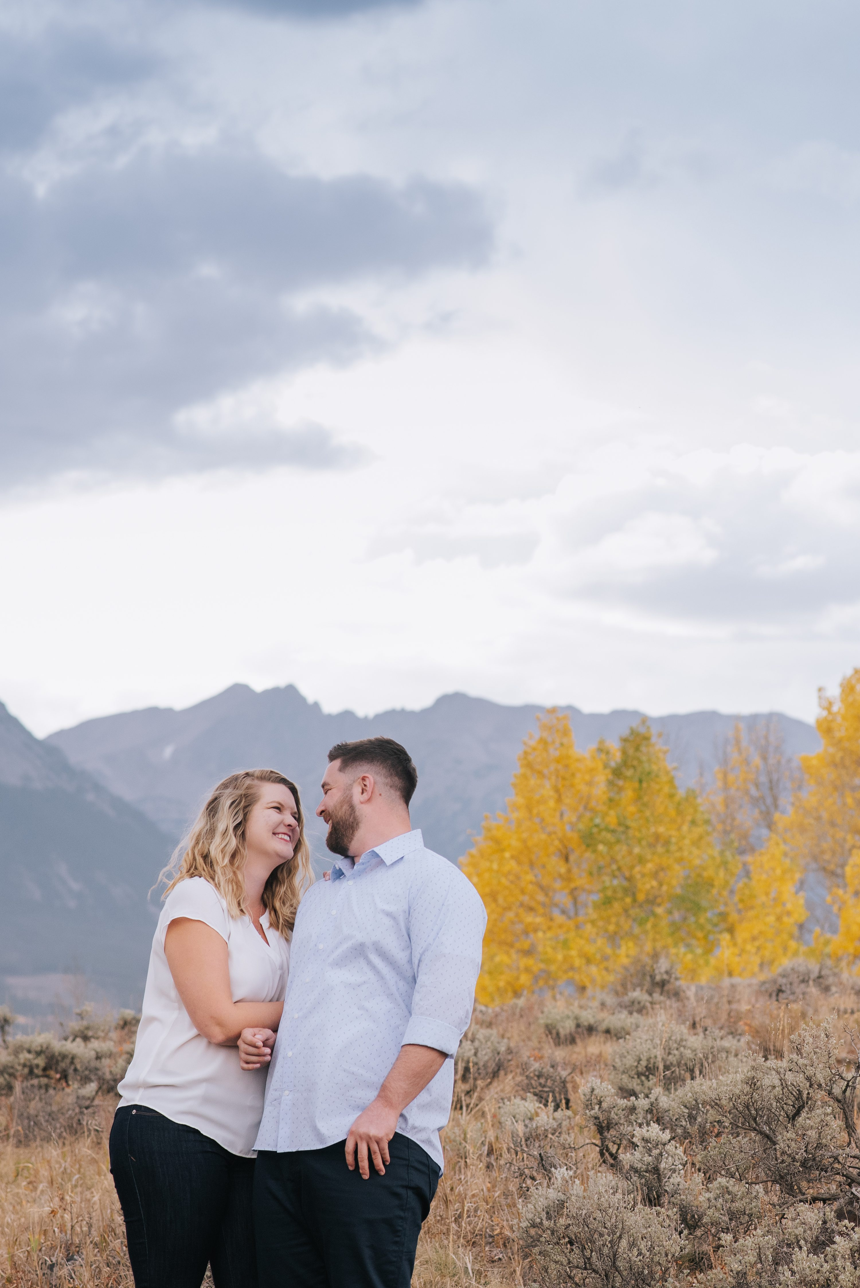 Colorado Rocky Mountain Engagement Photos, colorado fall photos