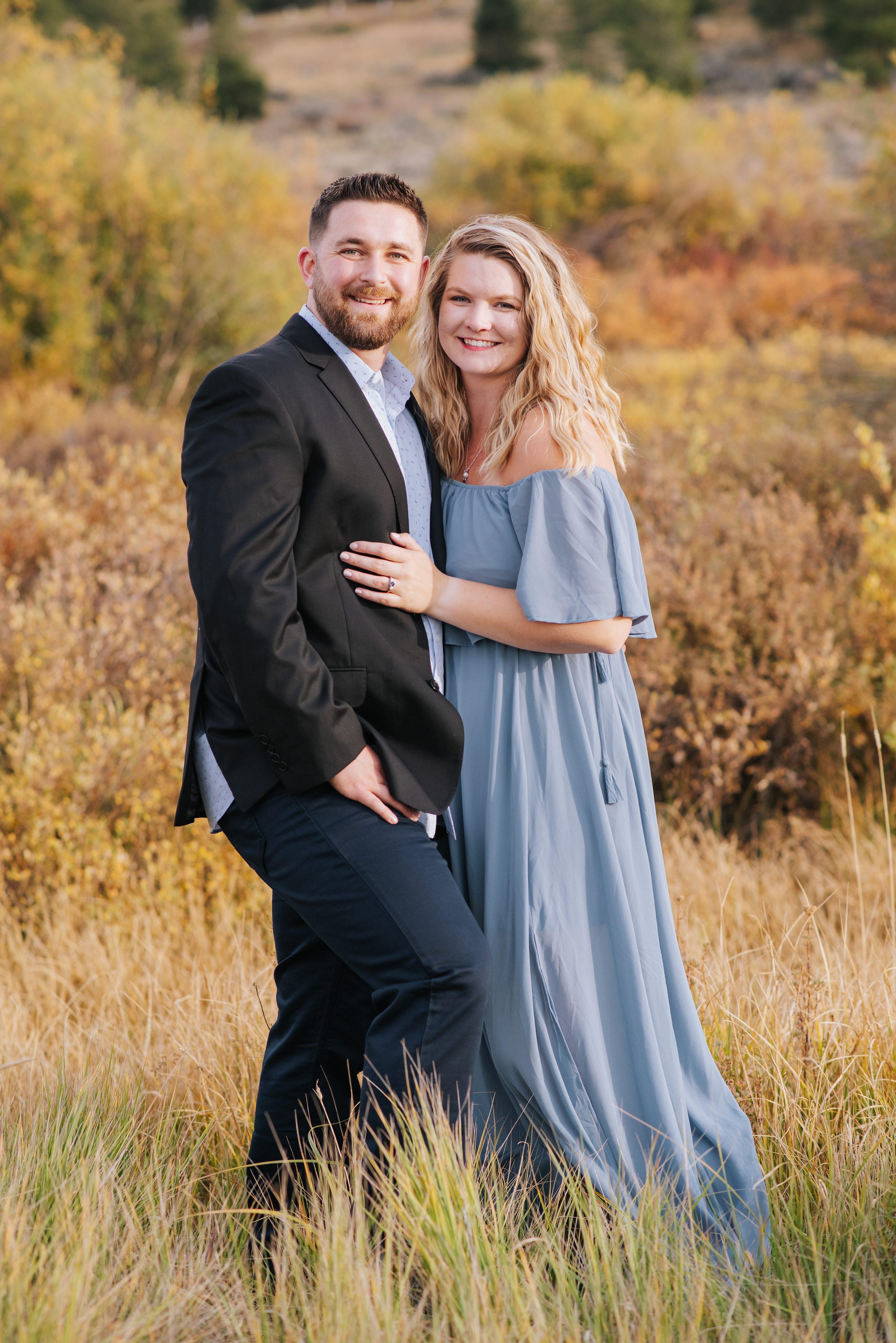 Colorado Rocky Mountain Engagement Photos, mountain engagement photos