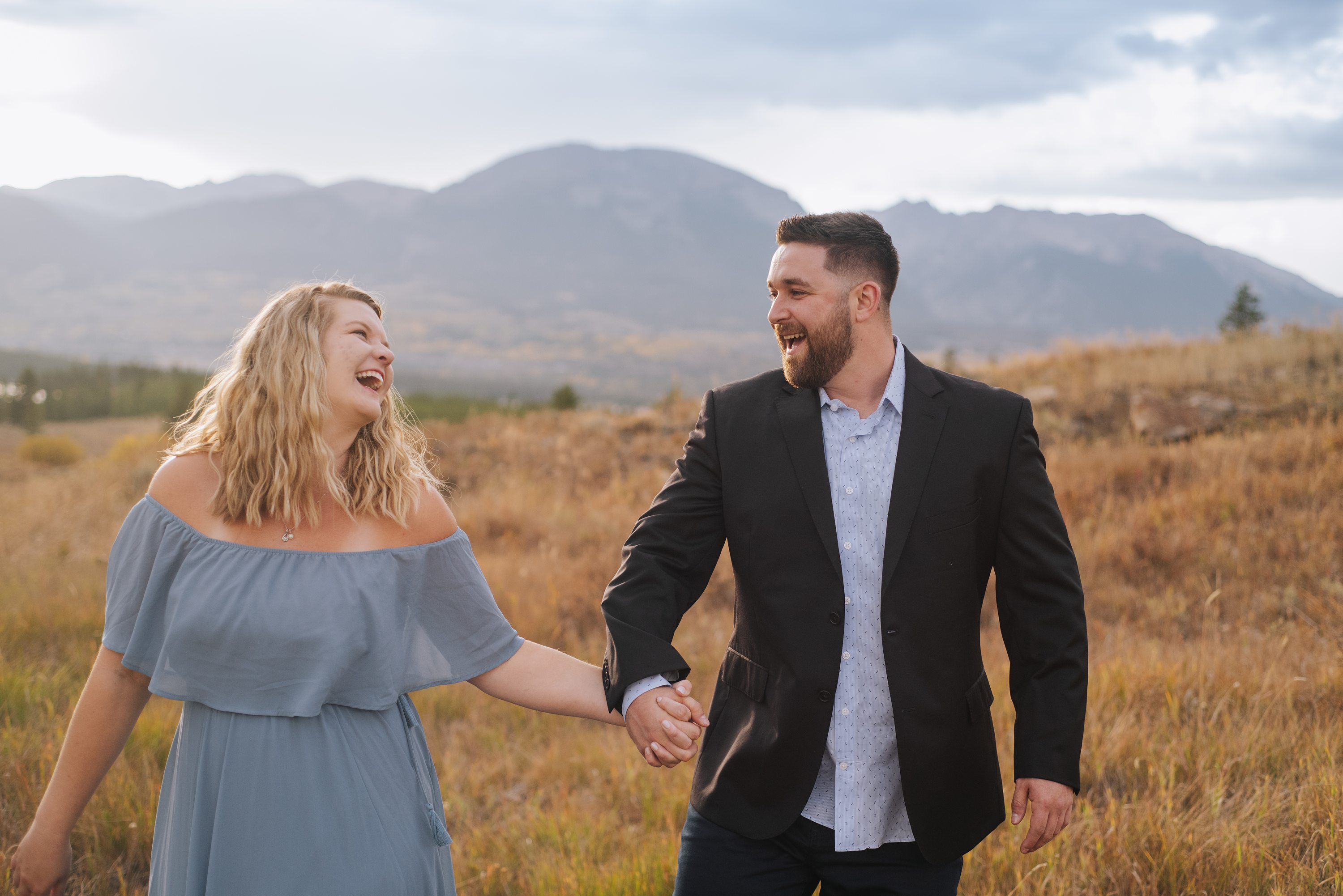 colorado engagement photography, changing aspens