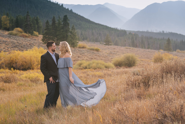 Colorado engagement photos, mountain views